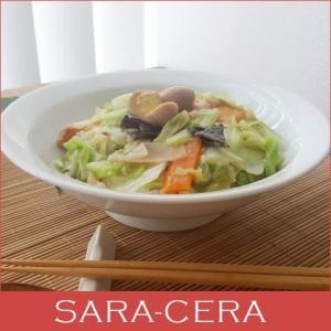 中華大好き 野菜たっぷり中華丼 白磁 どんぶり|sara-cera-y