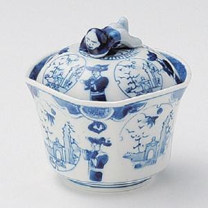 たっぷりなめらか茶碗蒸し碗 蒸し器 藍色古染閑人 ちゃわんむし 蓋付き煮物椀 菓子碗|sara-cera-y