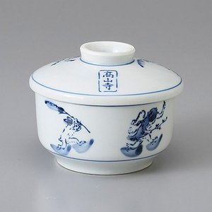 たっぷりなめらか茶碗蒸し碗 蒸し器 高山寺 ちゃわんむし 平むし碗 蓋付き煮物椀 菓子碗|sara-cera-y
