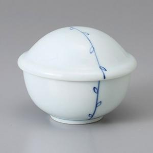 たっぷりなめらか茶碗蒸し碗 蒸し器 藍色若芽姫蓋碗 ちゃわんむし 蓋付き煮物椀 菓子碗|sara-cera-y