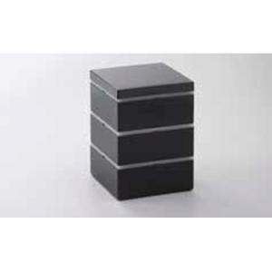 21日までSALE価格!越前塗 11cm パーティボックス ブラック 重箱 ABS樹脂 PE樹脂 ウレタン塗装 日本製|sara-cera-y