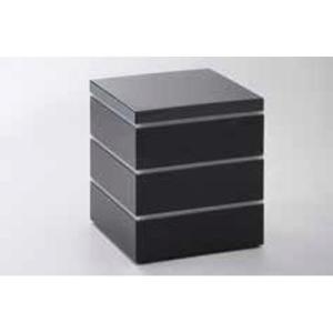 21日までSALE価格!越前塗 15cm パーティボックス ブラック 重箱 ABS樹脂 PE樹脂 ウレタン塗装 日本製|sara-cera-y