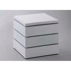 21日までSALE価格!越前塗 18cm パーティボックス ホワイト 重箱 ABS樹脂 PE樹脂 ウレタン塗装 日本製|sara-cera-y