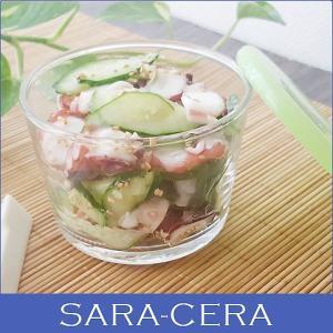 21日までSALE価格!グラス ガラス 3個セット テーブル密封パック グリーン sara-ceraレシピ きままにレシピ タコポキ 保存容器  〔お取り寄せ商品〕|sara-cera-y