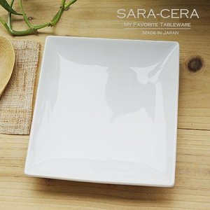 和食器 白い食器 スクエアプレート正角皿 14.5cm   〔お取り寄せ商品〕 |sara-cera-y