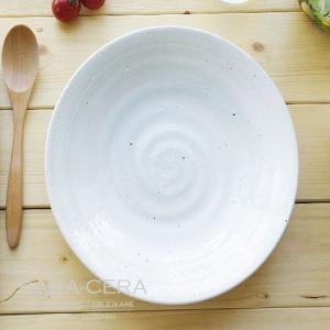 11/26 11:59までSALE!和食器 粉引グリーン流し ランチプレート 渦皿  〔お取り寄せ商品〕 |sara-cera-y