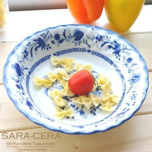 (欠品中 入荷未定)洋食器 ロイヤルブルーオニオン 茹で上げオーバルパスタボール 200050001702|sara-cera-y