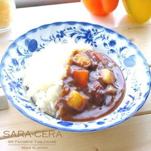 洋食器 ロイヤルブルーオニオン 茹で上げパスタディッシュ リムスープ 21cm 200050001705|sara-cera-y