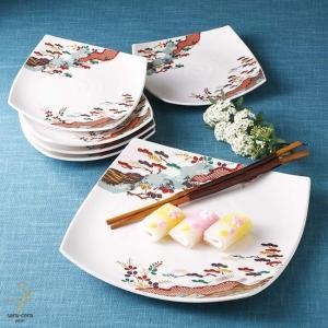 7個セット お箸が付いたうっすらピンクの和食セット ギフト箱入り 和食器 セット 食器 福袋 新生活 皿 プレート|sara-cera