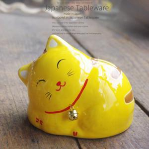 ラッキーアイテム 金運眠り猫 貯金箱 ねこ 猫 縁起物 置物 ギフト 金運 開運 雑貨 金運招き猫 瀬戸焼|sara-cera