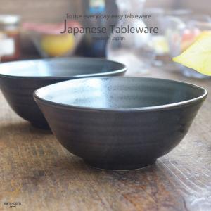 和食器 2個セット お料理が映える ブラックマット 黒結晶 ...