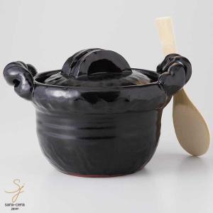 万古焼 陶芸作家 山本安志による手造りの炊飯鍋。肉厚で重厚な炊飯鍋はごはんを美味しく炊く事を第一に考...