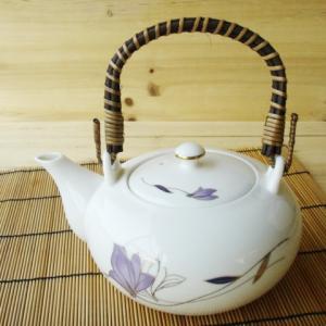 花紀行 急須 ツル取っ手 (内部に陶器の茶漉し付き)