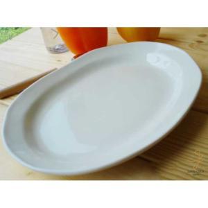 白い食器 クリームオーバルカレーパスタ 皿 26.5cm|sara-cera