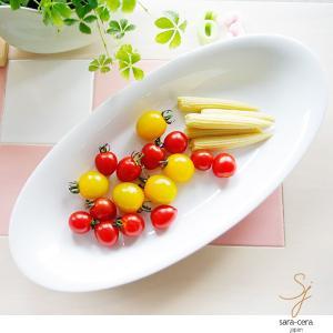 洋食器 白い食器のオーバルカレーパスタトレー サラダ 楕円 日本製 美濃焼 うつわ おさら おうち ボウル|sara-cera