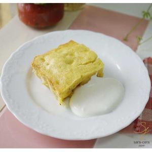 sara-cera−japanレシピ 簡単バナナケーキ パレスリストランテ デザートプレート 白い食器 洋食器 白磁 sara-cera