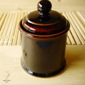 こだわり焙煎珈琲専門店のシューガーポット 洋食器/陶器 黒 ブラック ドリップ 豆 コーヒー 砂糖|sara-cera