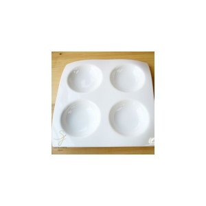 白い器の4ピースカプリッチョ|sara-cera