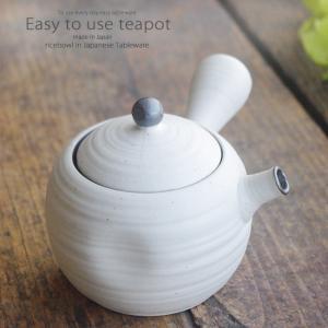 和食器 一杯のお茶がおいしい かわいいころん急須 白釉 茶漉しつき 玉急須 緑茶