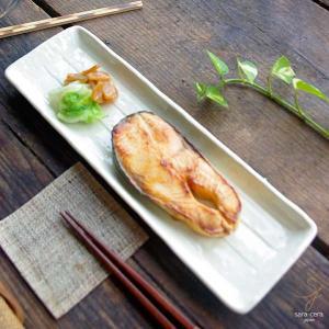 和食器 オードブルに 焼き魚に 長角皿 白 33.8cm 魚皿 さんま皿 おしゃれ 和皿 和風 長角皿 うつわ おさら|sara-cera