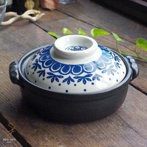 おうちでたっぷり野菜食べよう 美しいボレスワヴィエツの街 家族でお鍋 1〜2人用 リーフドット IH対応 土鍋 6号 日本製の画像