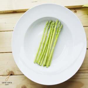 Chuan Kuo 白い食器 30cmパスタプレート 洋食器|sara-cera