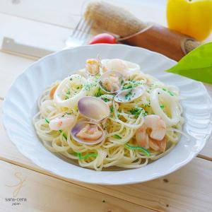 洋食器 白い食器 スタンダードウェーブ ボンゴレビアンコパスタ ディッシュ 23.5cm サラダ カレー おうち うつわ 陶器 ボウル 鉢|sara-cera