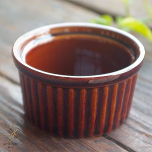洋食器 オーブンスフレココット ブラウン茶色 Sサイズ グラタン|sara-cera