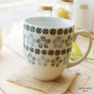 美しいボレスワヴィエツの街 ブルーフラワー マグカップ ポタリー風 ポタリーフィールド 北欧 花柄 リバティプリント|sara-cera