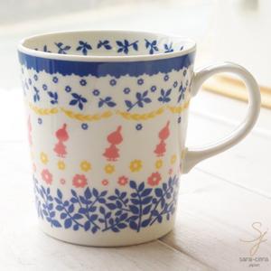 北欧スタイル ムーミン スタンプ マグカップ(リトルミイ) ブルー 青|sara-cera
