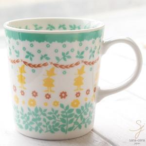 北欧スタイル ムーミン スタンプ マグカップ(スナフキン) グリーン 緑|sara-cera