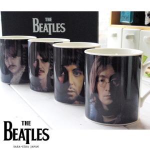 4個セット THE BEATLES ビートルズ 4人メンバーマグカップセット (ジョン ポール ジョージ リンゴ)|sara-cera
