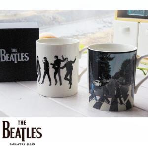 2個セット THE BEATLES ビートルズ ぺアマグカップセット (アビイロード・ジャンプ)ジョン ポール ジョージ リンゴ|sara-cera