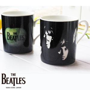 2個セット THE BEATLES ビートルズ ぺアマグカップセット (フェイス・アップル)ジョン ポール ジョージ リンゴ|sara-cera