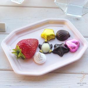 ピンク ホワイト トリュフチョコチーズトレー フリートレー (Lサイズ)|sara-cera