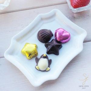 白い食器 ホワイト トリュフチョコチーズトレー フリートレー (Sサイズ)|sara-cera