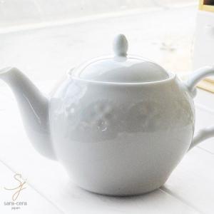 白い花と器の物語 ティーポット 白い食器 テーブルコーディネート  紅茶 ティーポット おしゃれ|sara-cera