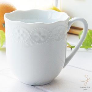 白い花と器の物語 マグカップ 白い食器|sara-cera