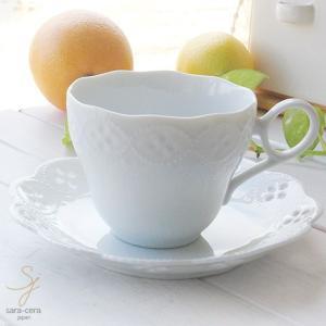 白い花と器の物語 カップソーサー 白い食器|sara-cera