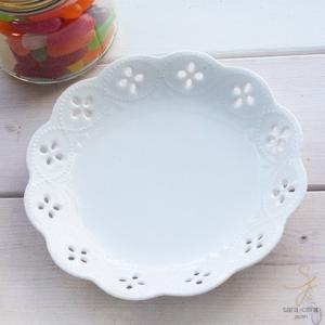 白い花と器の物語 ブレッドプレート パン皿 φ153mm 白い食器|sara-cera