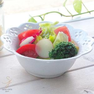 白い花と器の物語 ヨーグルト デザート ミニサラダボール(小) φ141mm 白い食器|sara-cera