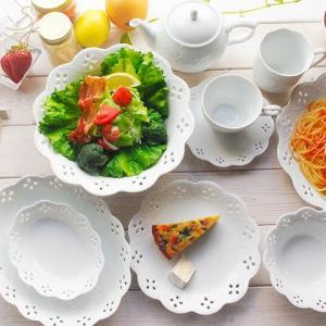 送料無料 17ピースセット 白い花と器の物語 2人用ファミリーセット 白い食器 食器セット ギフト 福袋 新築祝い|sara-cera