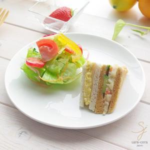鮮やかな白い食器 Vivid white ビビットホワイト 前菜デザートケーキプレート 中皿 20.4cm sara-cera