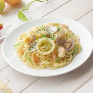 鮮やかな白い食器 Vivid white ビビットホワイト パスタランチプレート 中皿 23.3cm sara-cera