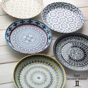5枚セット 美しいボレスワヴィエツの街 セカンドシーズン パンプレート 取り皿 ポタリー風 洋食器 小皿 食器セット,ギフト 花柄 リバティプリント
