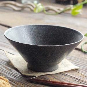 手のりがいい軽量 ご飯茶碗 (ブラック黒結晶) 和食器 和皿 和風 飯碗 茶碗 陶器 手づくり