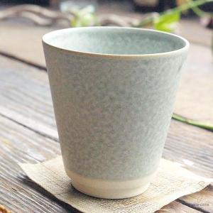 手のりがいい フリーカップ (緑グリーン窯変) 和食器 和風|sara-cera