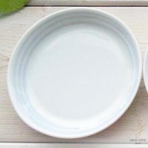 碧いブルーのきもち 染付け プチディッシュ 薬味小皿 8cm (駒筋ライン 渦うず)(※単品)軽量白磁 青 丸皿|sara-cera