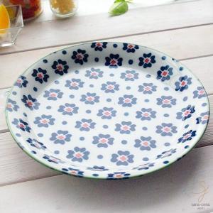 笑顔がみえる花は咲く ポレン お料理メインディナープレート 大皿(フラワーバタフライ) 花柄 リバティプリント|sara-cera