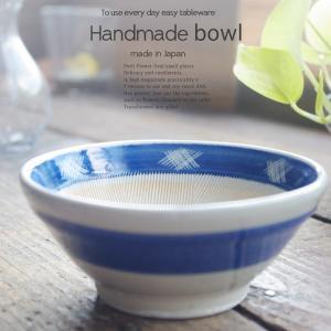 和食器 すり鉢 藍染付け刷毛目 18.5cm擂り鉢 胡麻すり 鍋料理 美濃焼 スリ鉢 ごま 山芋 とろろ 丼 どんぶり ごまあえ|sara-cera